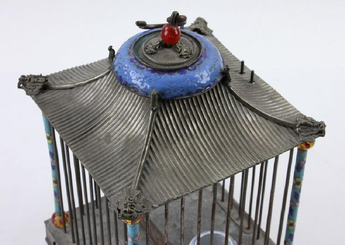 Chinese Republic Period Enameled Bird Cage - 4