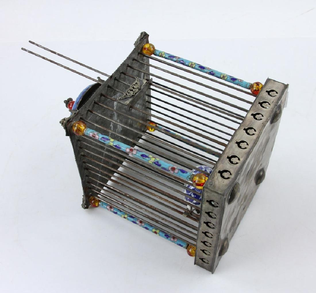 Chinese Republic Period Enameled Bird Cage - 6