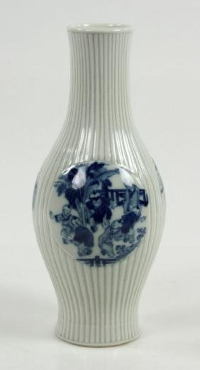 Chinese Olive Shape Blue and White Vase
