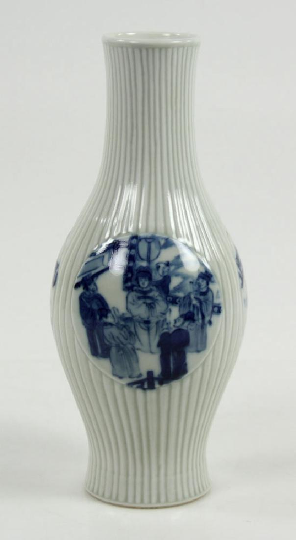 Chinese Olive Shape Blue and White Vase - 2