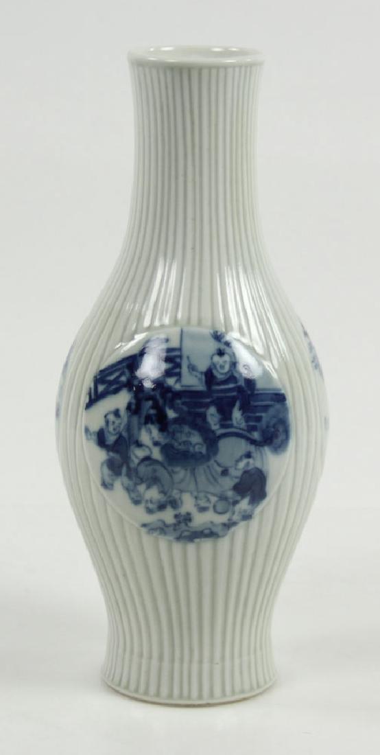 Chinese Olive Shape Blue and White Vase - 3