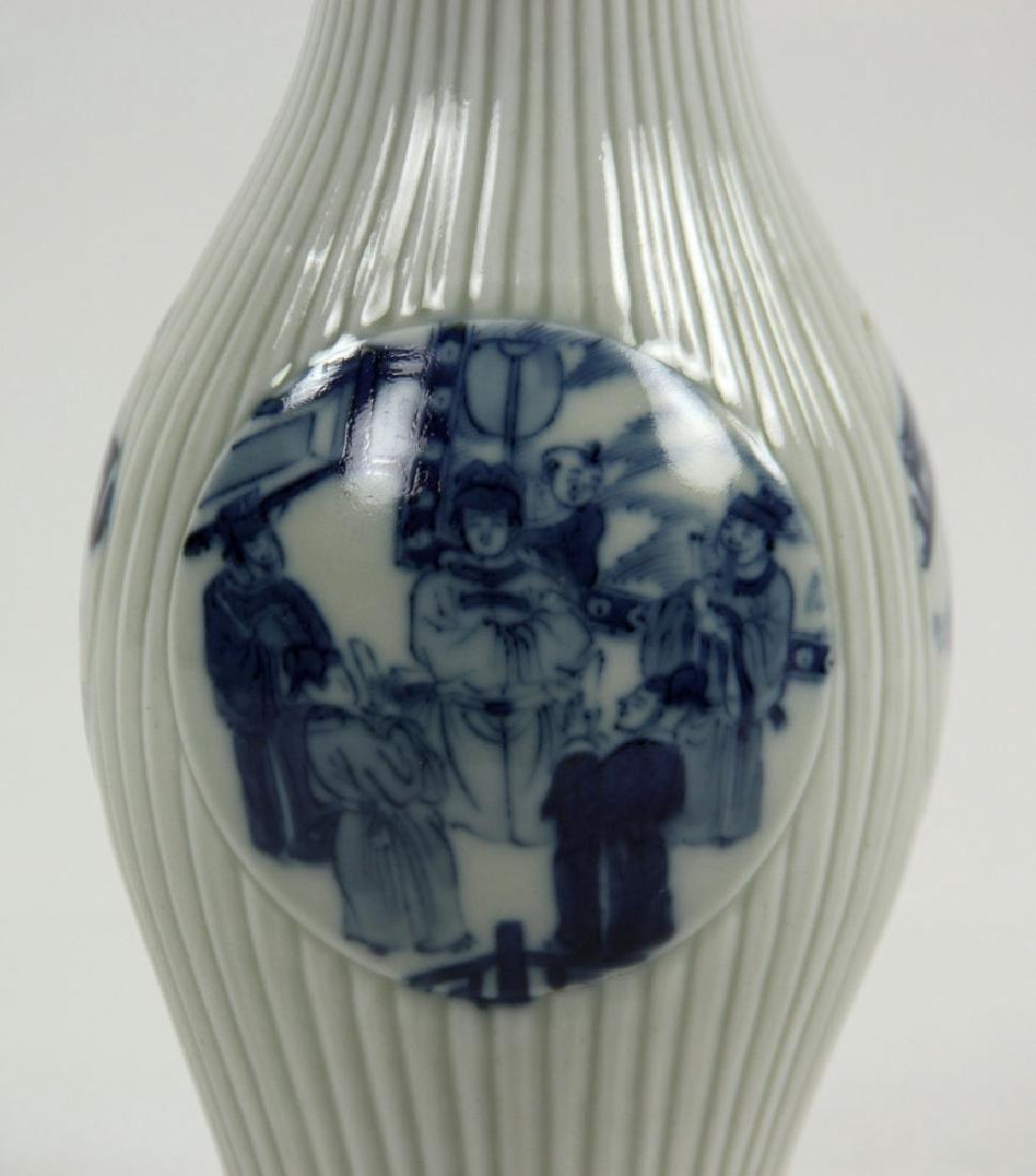 Chinese Olive Shape Blue and White Vase - 6