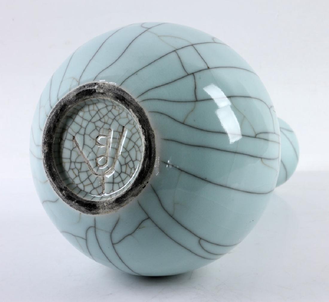 Chinese Crackleware Celadon Vase - 6