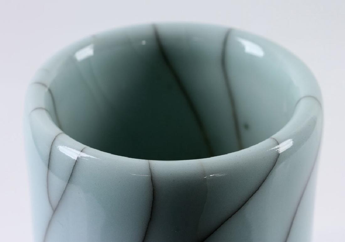 Chinese Crackleware Celadon Vase - 8