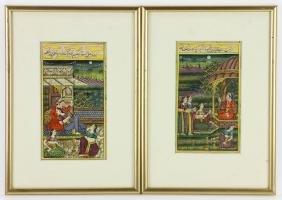 Pair of 18th/19th C. Persian Watercolor Paintings