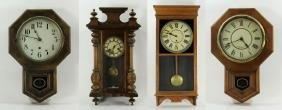 Four 19th C. American Wall Clocks