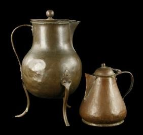 Two American Copper Coffee Pots