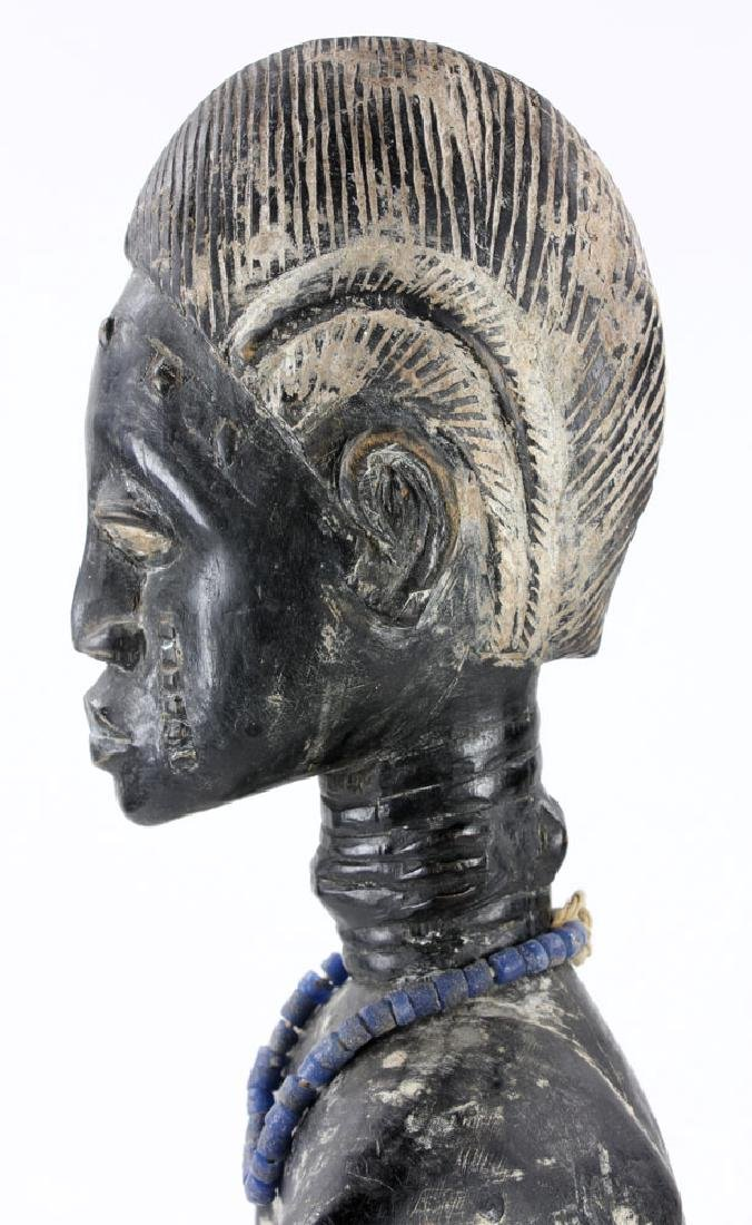 African Carved Seated Figure - 10