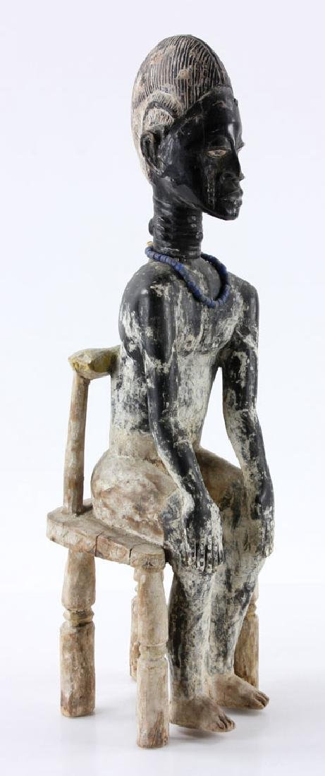 African Carved Seated Figure - 3