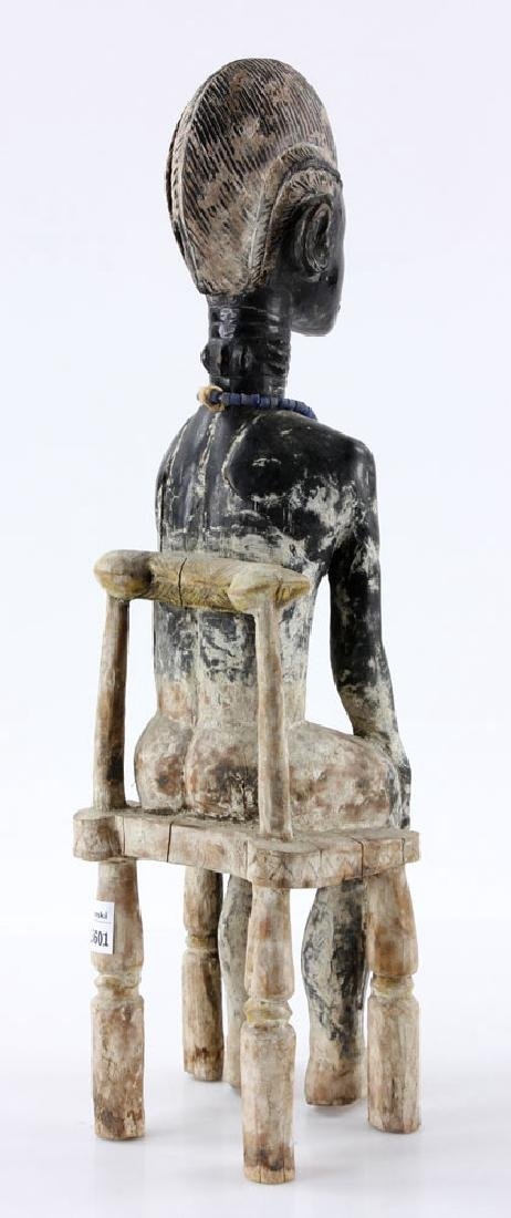 African Carved Seated Figure - 4