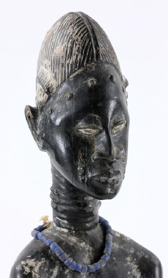 African Carved Seated Figure - 7