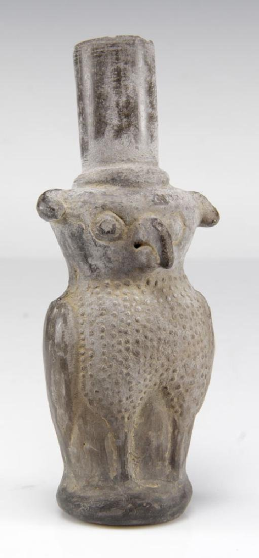 Pre-Columbian Clay Owl Vessel