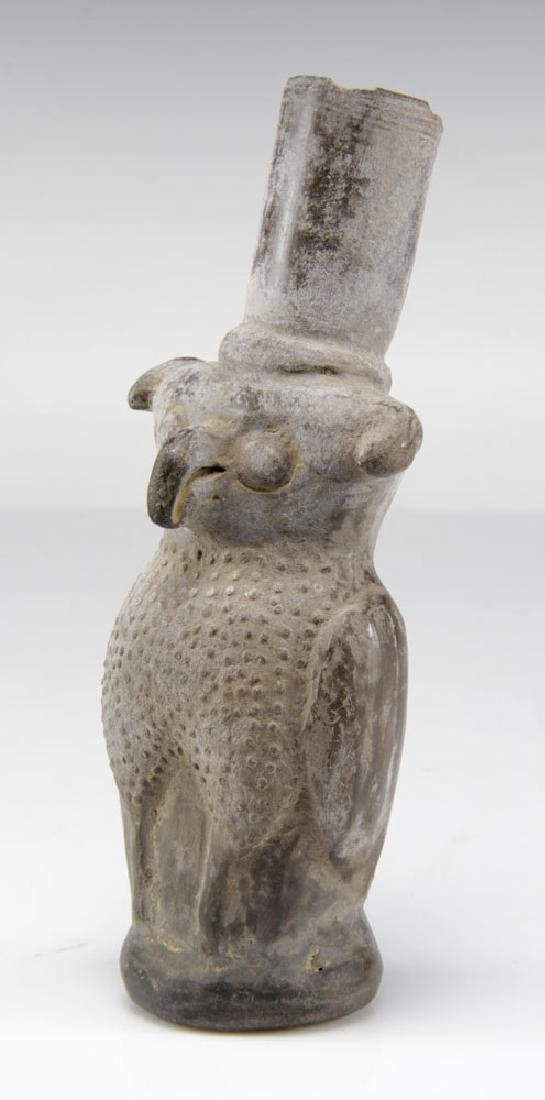 Pre-Columbian Clay Owl Vessel - 2