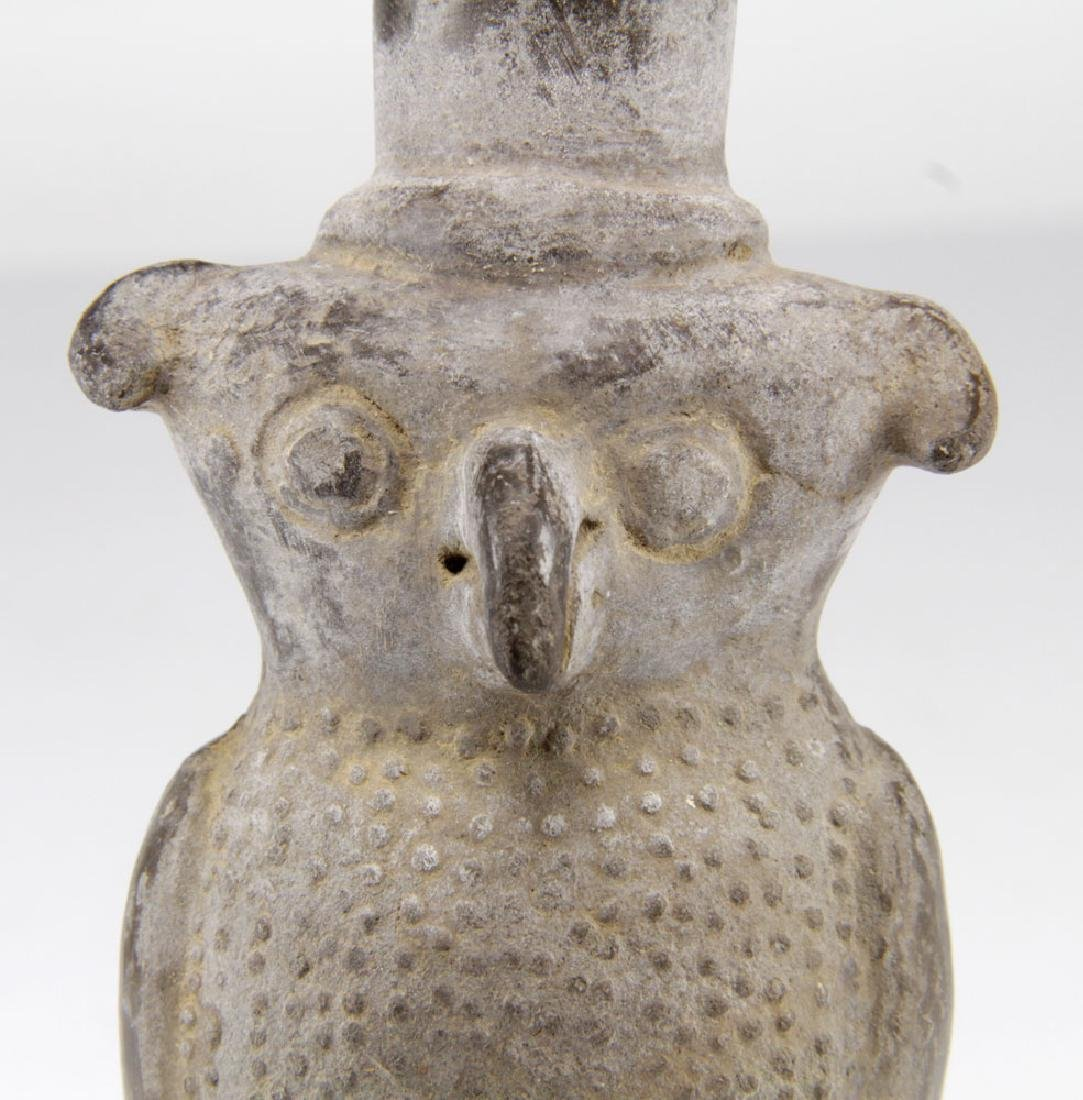 Pre-Columbian Clay Owl Vessel - 5