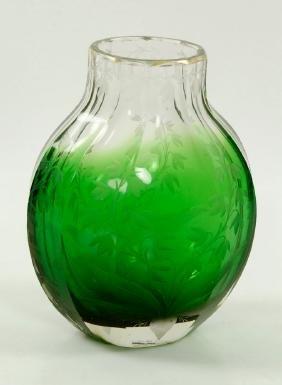 Attr. Moser, Blown Glass Vase