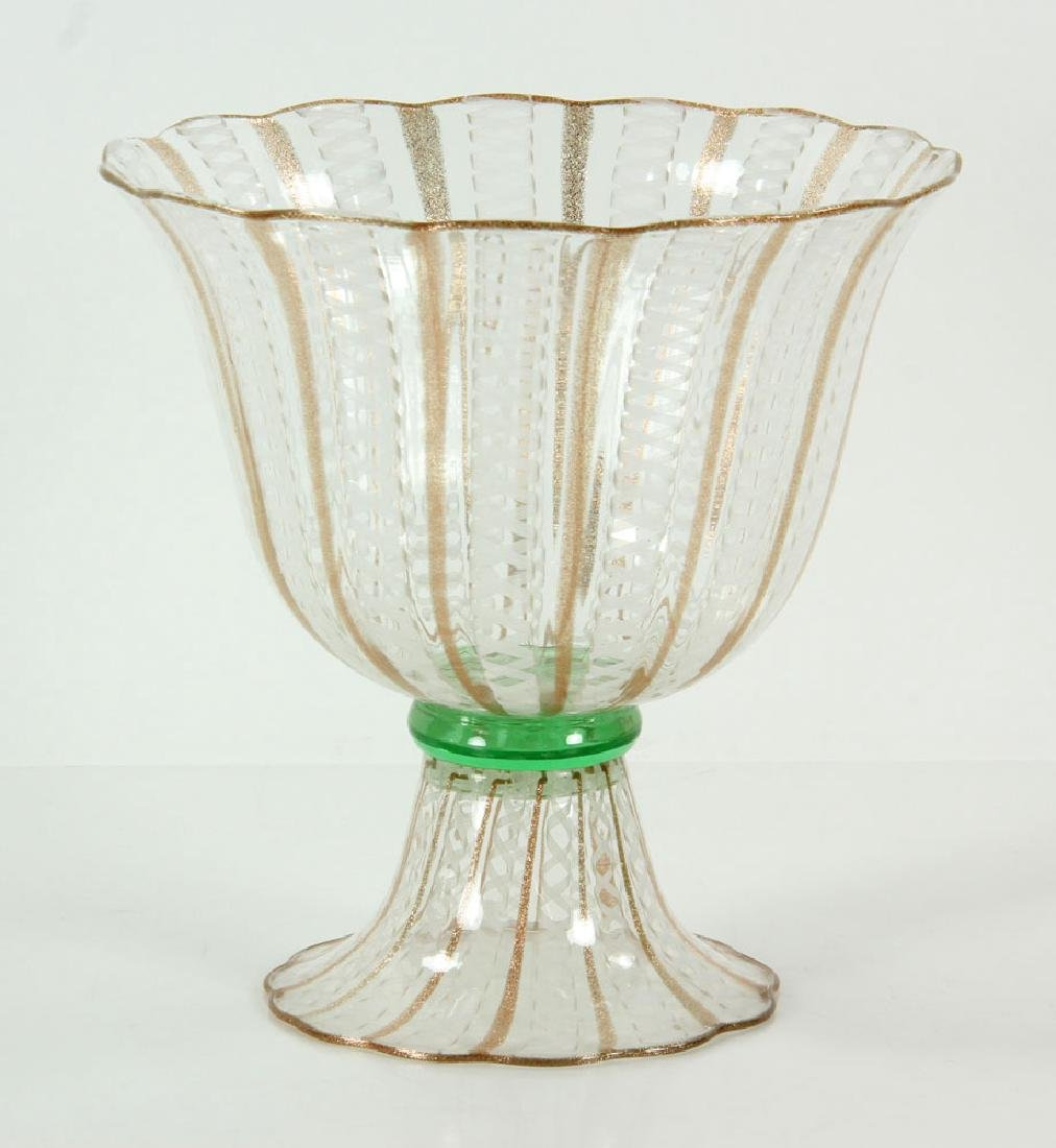 Cenedese Murano Latticino Bowl