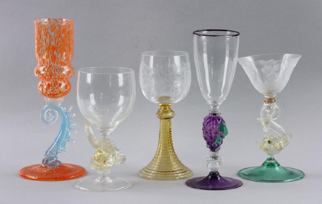Five Venetian Goblets