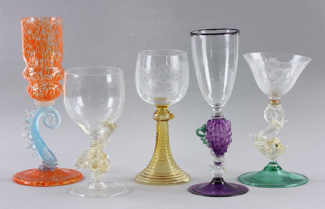 Five Venetian Goblets - 2