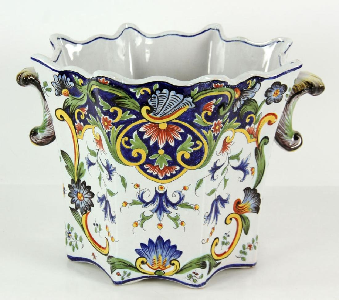 Pair of Faience Desvres Jardinieres - 4