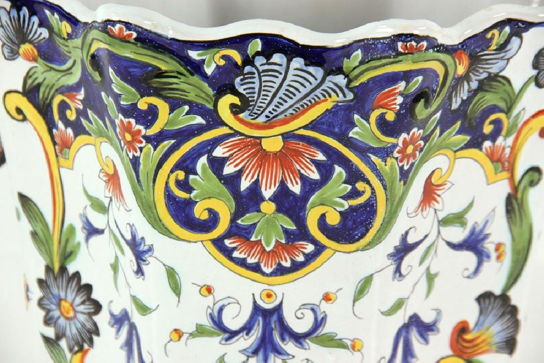 Pair of Faience Desvres Jardinieres - 6
