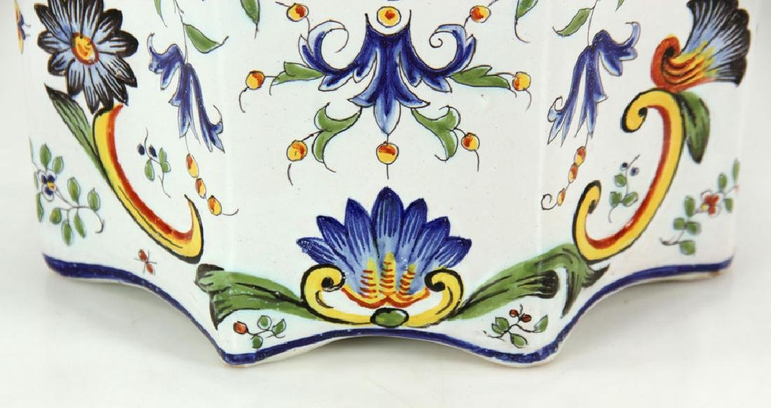 Pair of Faience Desvres Jardinieres - 7