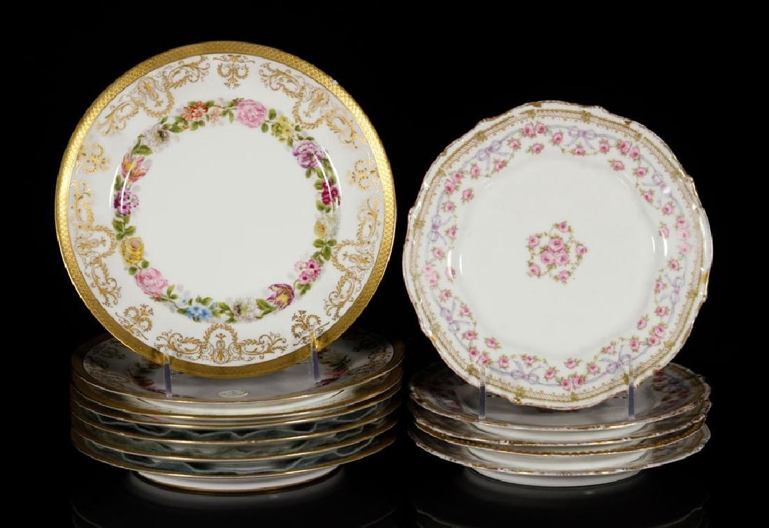 Thirteen Limoges Porcelain Plates