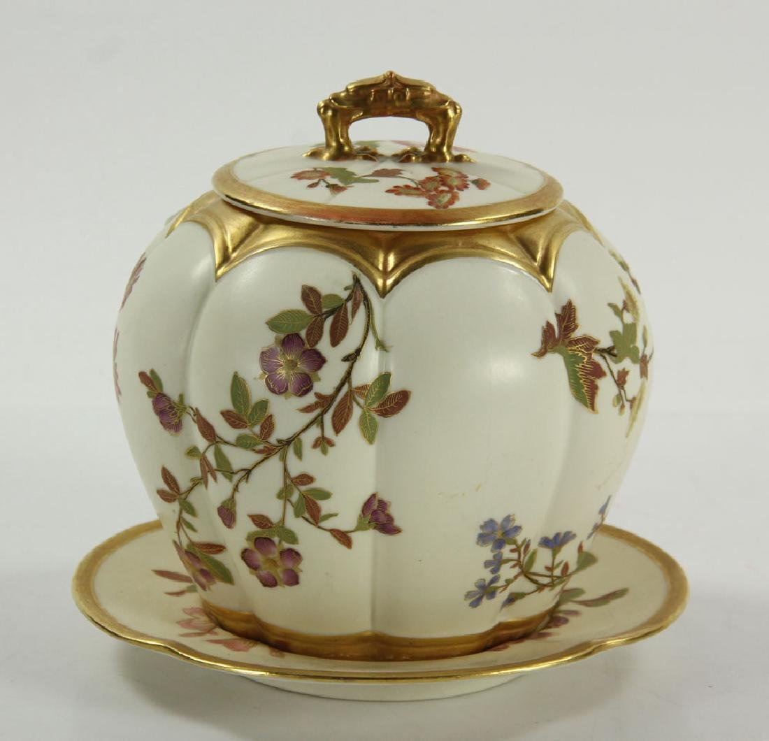 Royal Worcester Cracker Jar and Plate