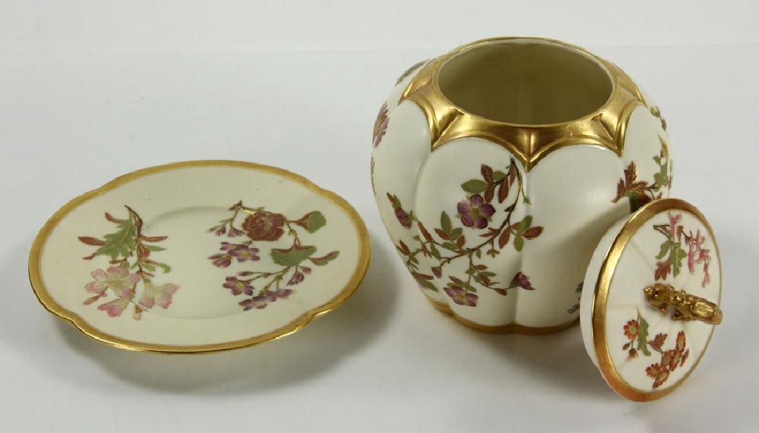 Royal Worcester Cracker Jar and Plate - 2