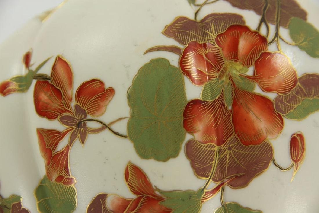 Royal Worcester Cracker Jar and Plate - 4