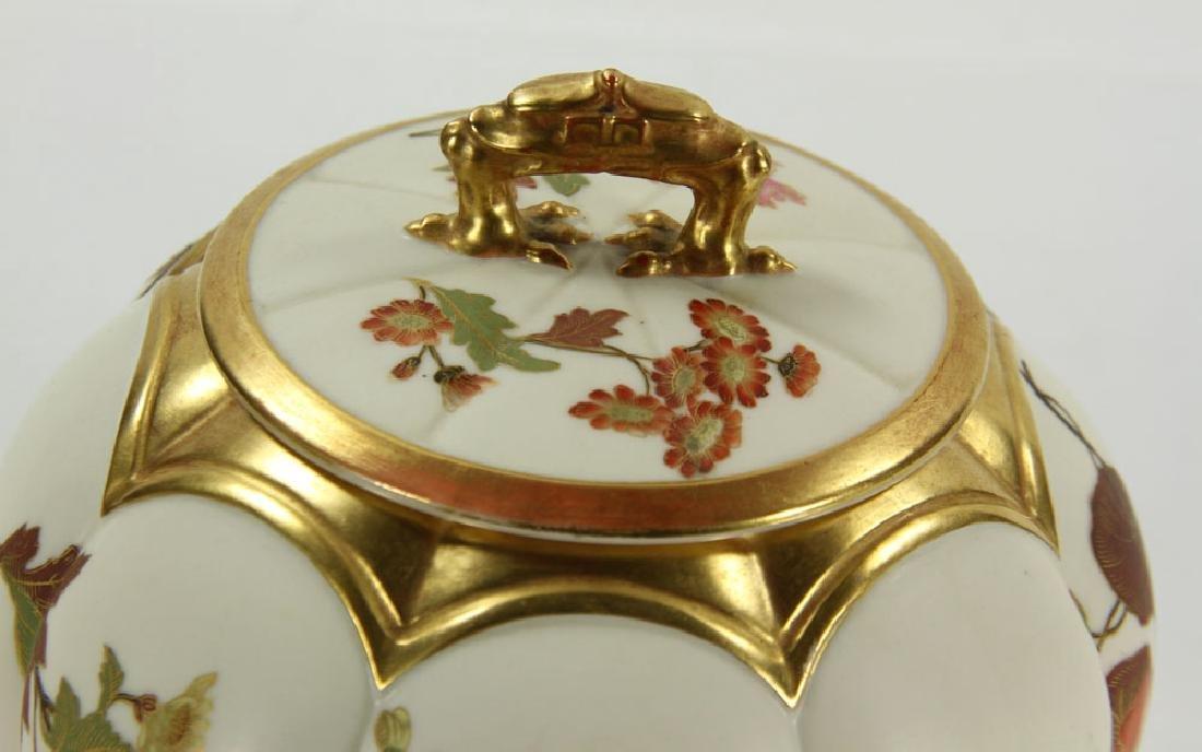 Royal Worcester Cracker Jar and Plate - 5
