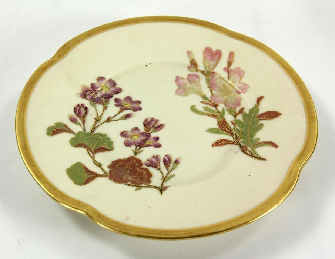 Royal Worcester Cracker Jar and Plate - 7