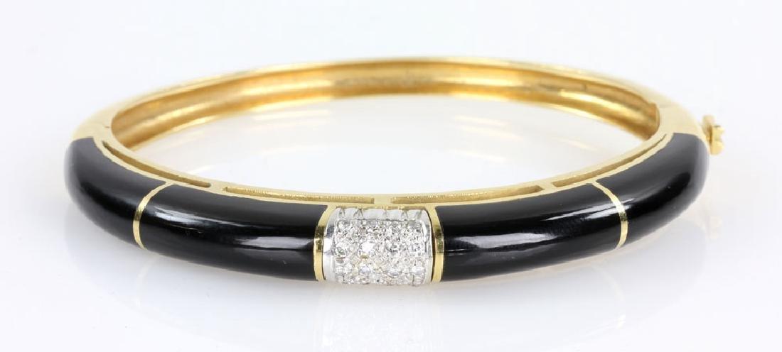 18K Gold, Diamond and Enamel Bracelet