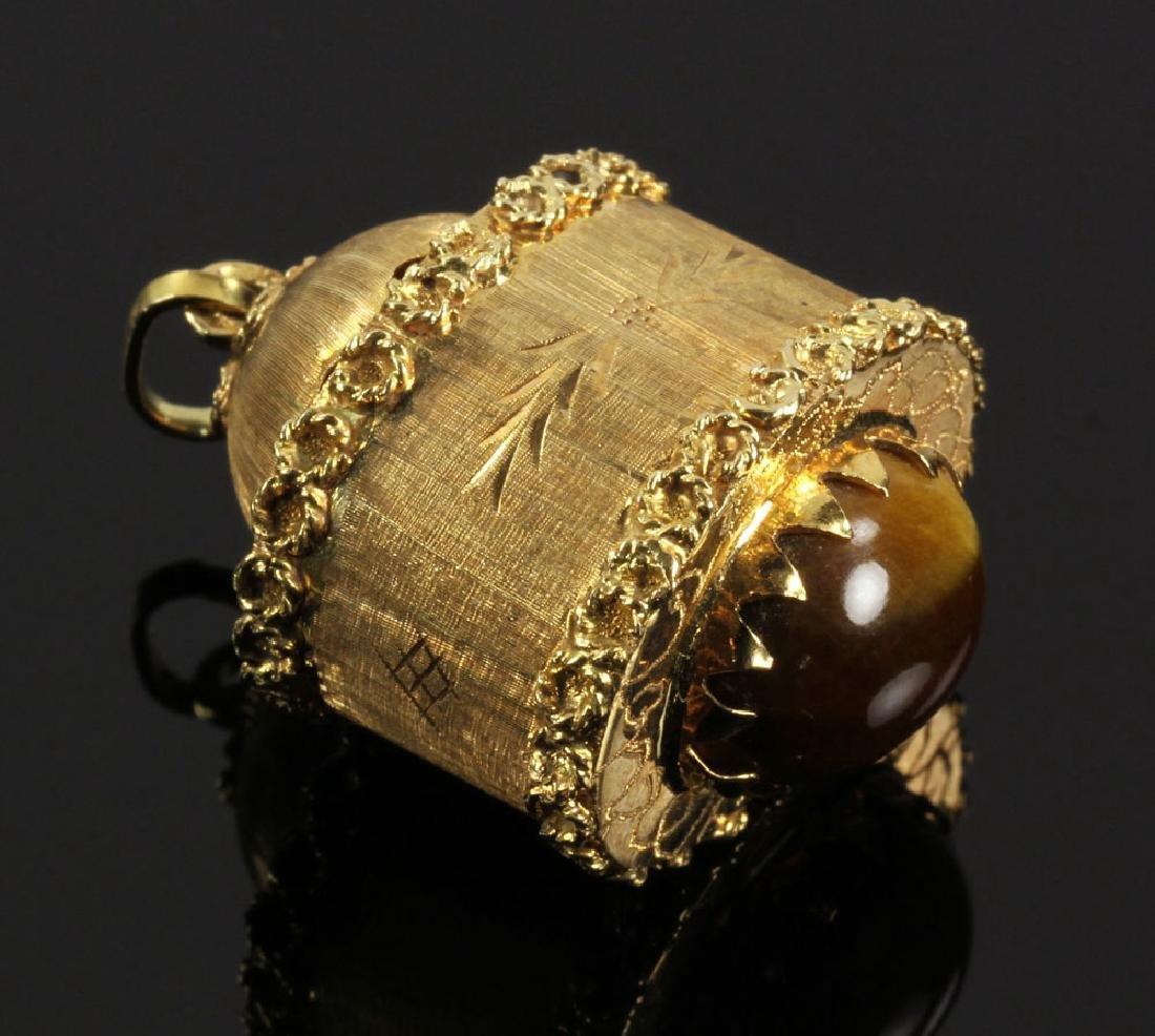 Italian 18K Gold Pendant or Charm