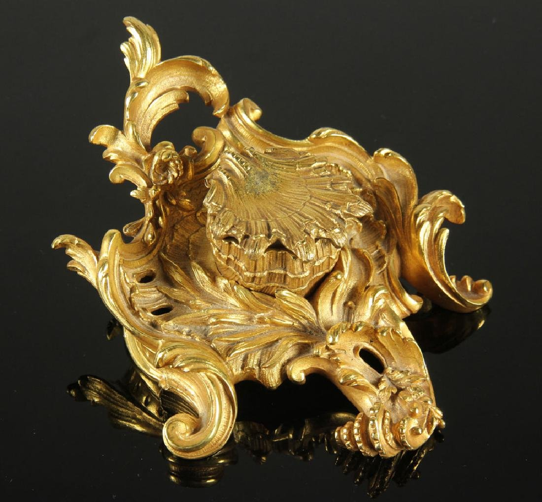 19th C. Louis XVI Gilt Bronze Ink Well - 2