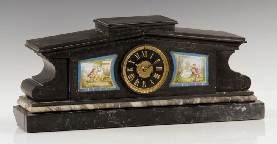 Victorian Marble Mantle Clock