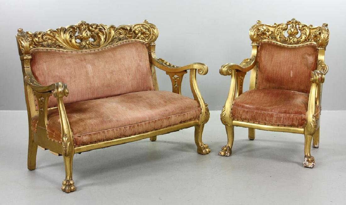 French Louis XV Parlor Set