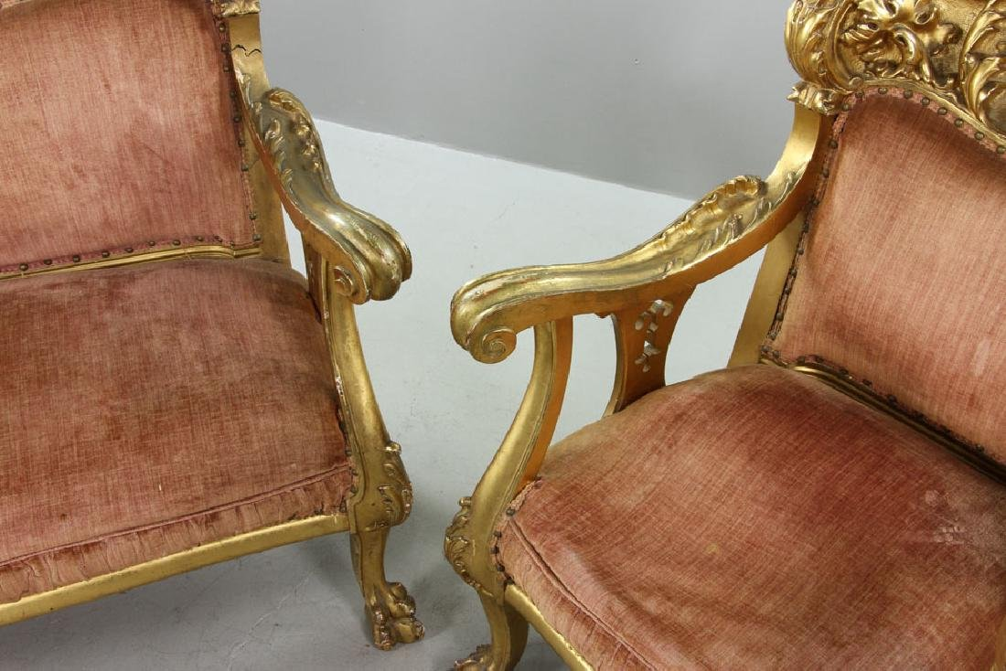 French Louis XV Parlor Set - 3