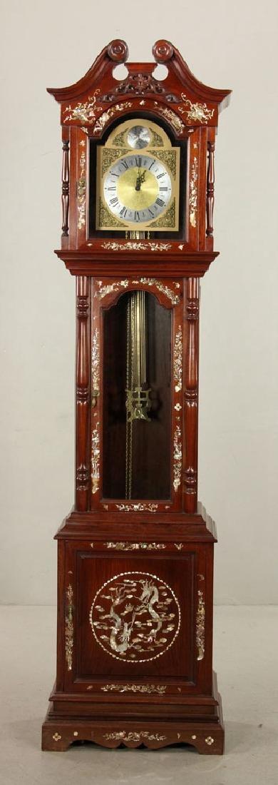 Chinese Inlaid Grandfather Clock