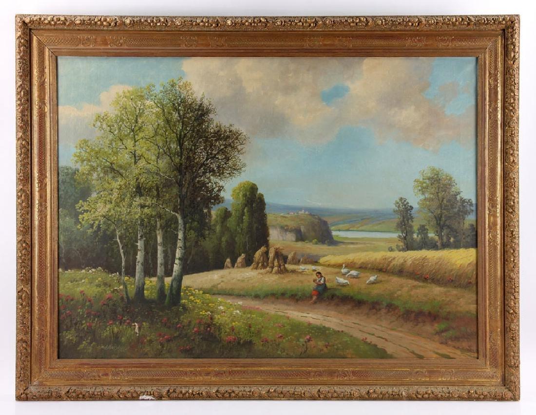 Bandough, Harvest Scene, Oil on Canvas