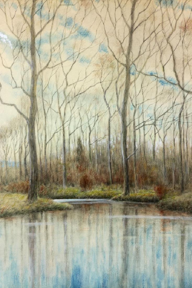 Chaffee, Fall River Scene, Watercolor - 3