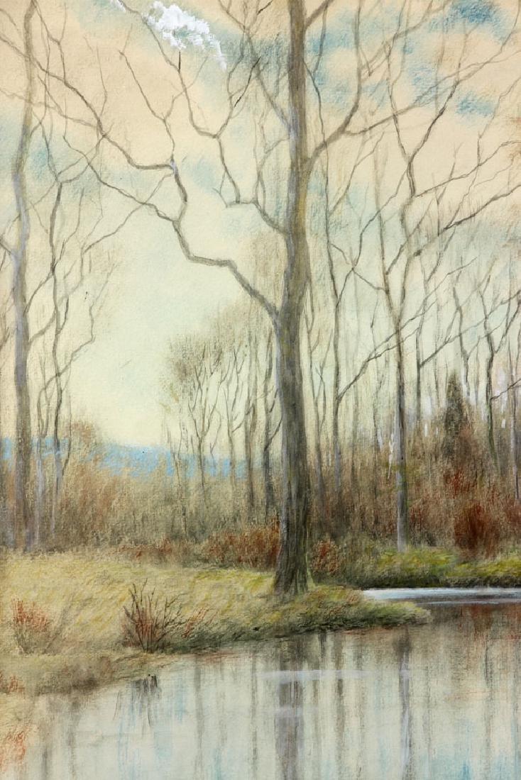 Chaffee, Fall River Scene, Watercolor - 4