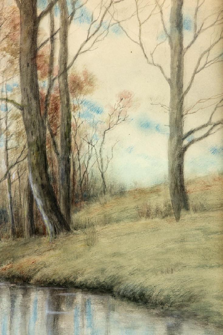 Chaffee, Fall River Scene, Watercolor - 5
