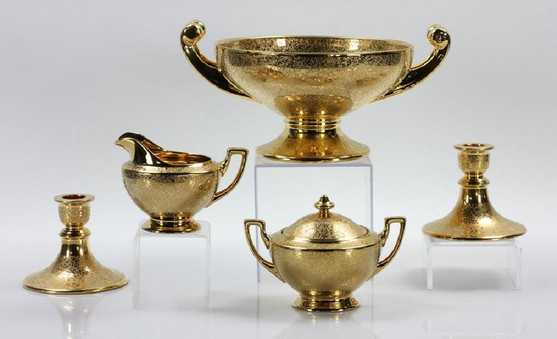 Lot of 22K Gold Gilt Porcelain Items