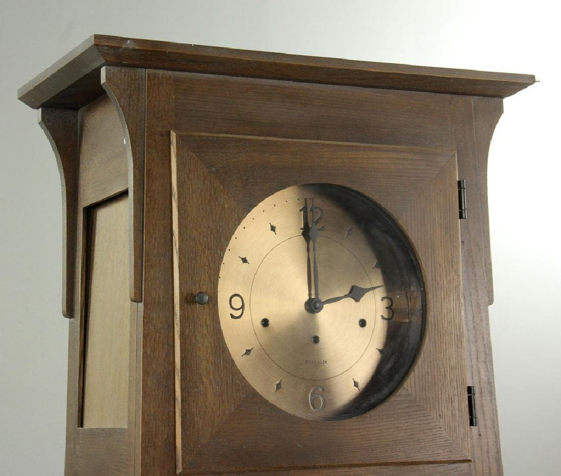 Ethan Allen Mission Oak Tall Clock - 2