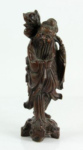 Chinese Carved Wood Figure