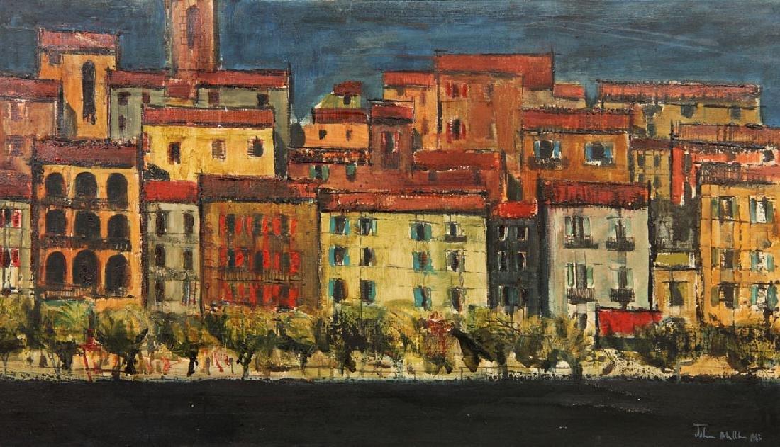 Miller, Village View, Oil on Canvas - 2