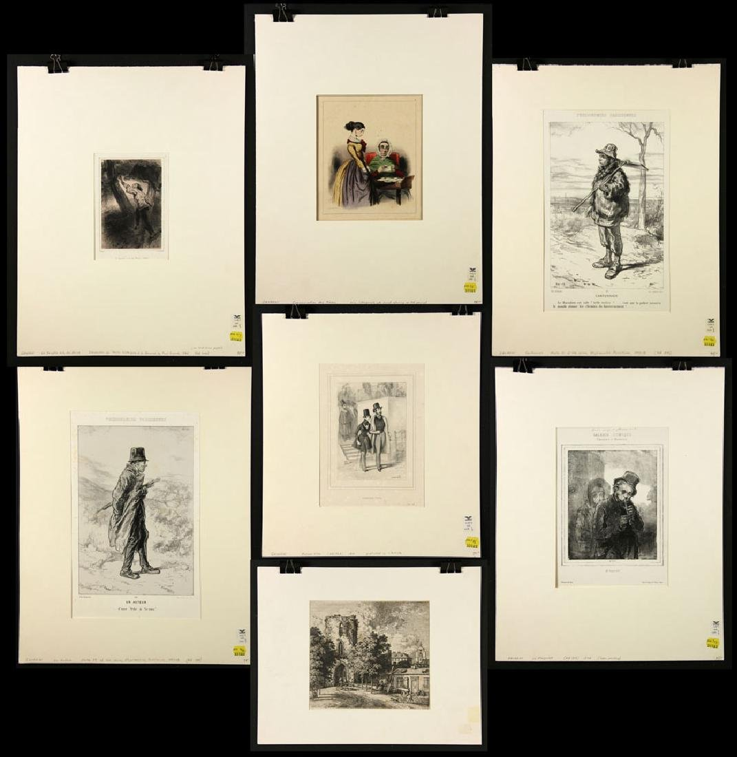 Lot of 7 Etchings and Lithographs