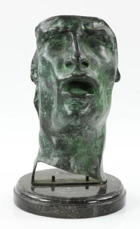 "After Rodin, ""The Mask,"" Bronze"