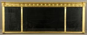 19th C. Federal Gilt Wood Mirror