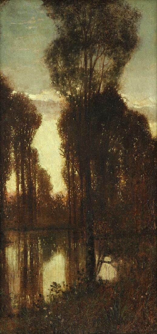 Attr. Knab, Forest View, Oil on Board - 3